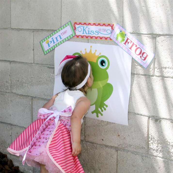 Küss den Frosch Station - Prinzessinnenparty für Kinder